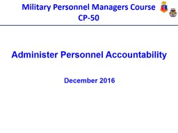 Military Personnel Managers Course