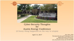Cyber-Security Thoughts