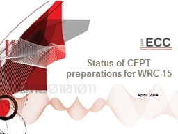 Status of CEPT preparations for WRC-15