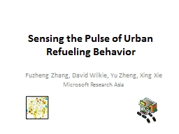 Sensing the Pulse of Urban