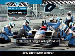 OPW  CleanEnergy  Fueling