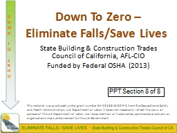 Down To Zero  ̶ Eliminate Falls/Save Lives