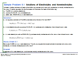Solution a.	 An  aqueous solution of