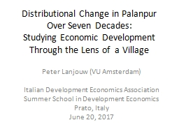 Distributional Change in