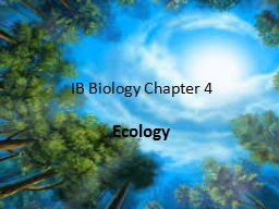 IB Biology Chapter 4 Ecology