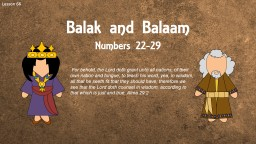 Lesson 66 Balak  and Balaam