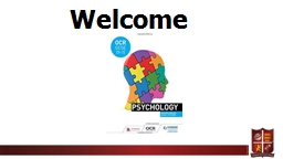 Welcome  Why psychology?