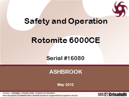 Safety and Operation  Rotomite