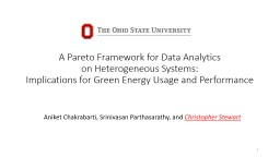 A Pareto Framework for Data Analytics