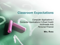 Classroom Expectations Computer