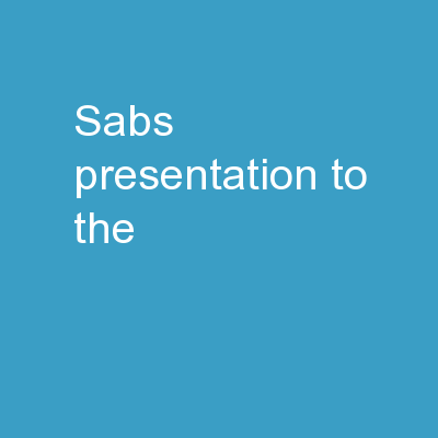 sabs presentation to the