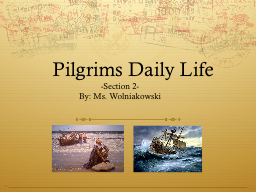 Pilgrims Daily Life - Section 2- PowerPoint Presentation, PPT - DocSlides