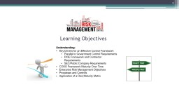 Learning Objectives Understanding: