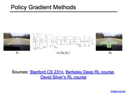 Policy Gradient Methods Image source