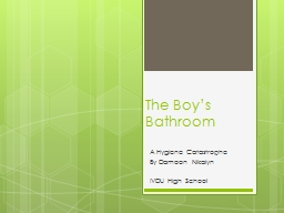 The Boy's Bathroom A Hygiene Catastrophe