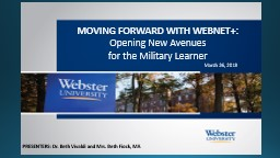 MOVING FORWARD WITH WEBNET :
