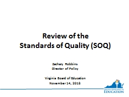 Review of the  Standards