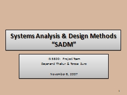 Systems Analysis & Design Methods PowerPoint Presentation, PPT - DocSlides