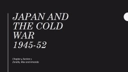 Japan  and the cold war