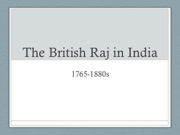 The British Raj in India