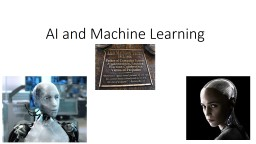 AI and Machine Learning The Turing Test