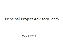 Principal Project Advisory Team