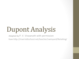 Dupont Analysis Adapted by
