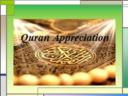Quran Appreciation Lesson