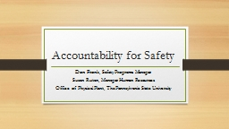 Accountability for Safety