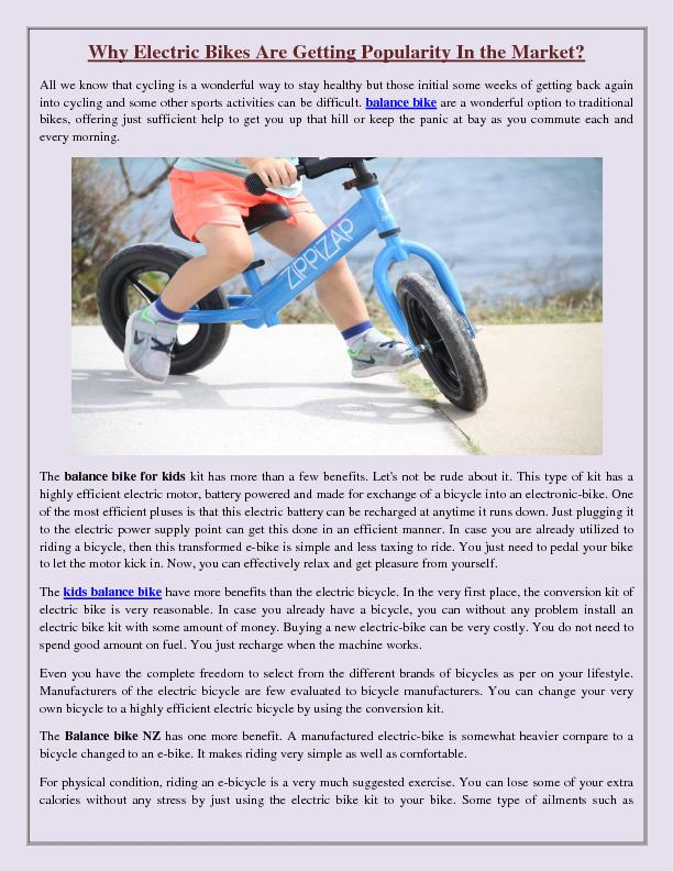 Why Electric Bikes Are Getting Popularity In the Market?