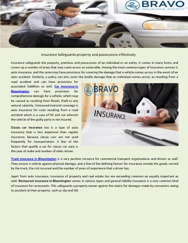 Truck Insurance in Bloomington