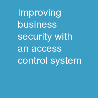 Improving Business Security With An Access Control System