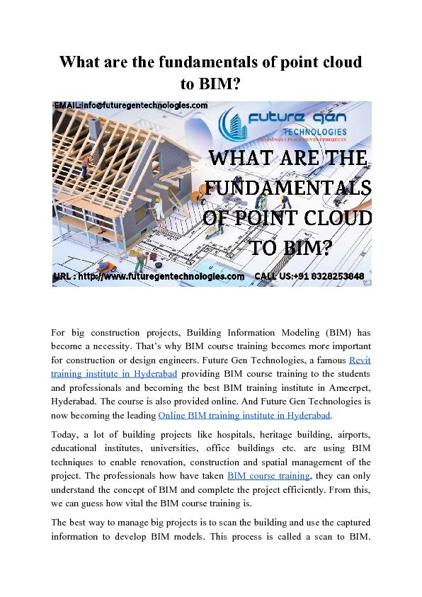What are the fundamentals of point cloud to BIM?