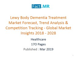 Lewy Body Dementia Treatment Market Competition Landscape - Key Insights 2018 - 2028