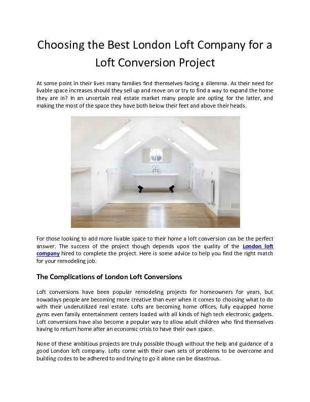 Choosing the Best London Loft Company for a Loft Conversion Project - ABC Lofts