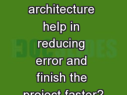 How does Revit architecture help in reducing error and finish the project faster? PowerPoint PPT Presentation