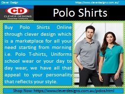 Shop Best Polo Shirts in Perth by Clever Design