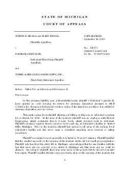 STATE OF MICHIGAN COURT OF APPEALS JOSEPH R