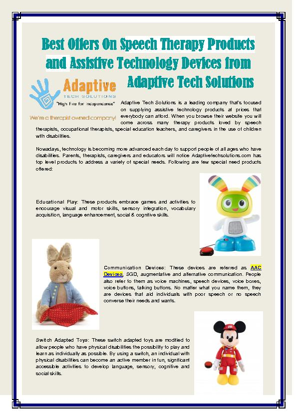 Assistive Technology Devices PowerPoint PPT Presentation