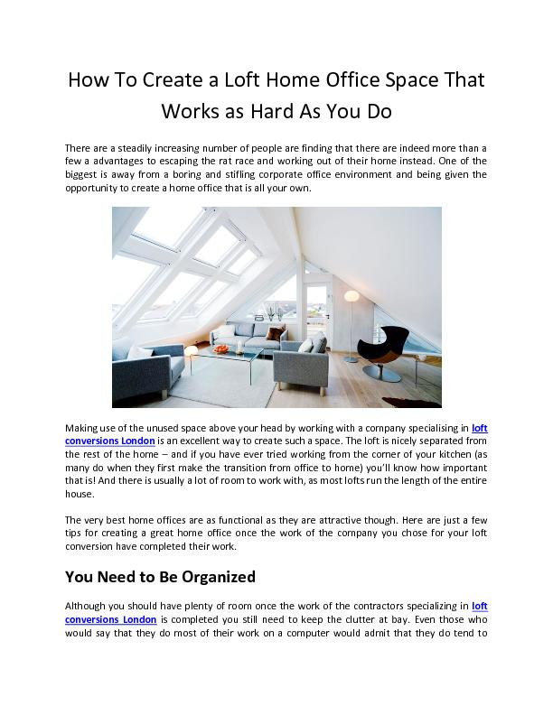 How To Create a Loft Home Office Space That Works as Hard As You Do - ABC Lofts