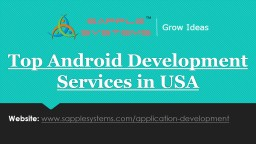 Top Android Development Services in USA
