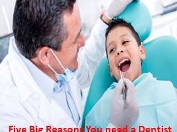 Five Big Reasons You need a Dentist