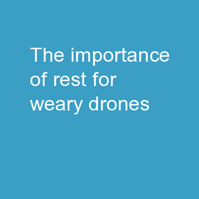 THE IMPORTANCE OF REST FOR WEARY DRONES PowerPoint PPT Presentation