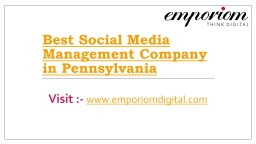 Best Social Media Management Company in Pennsylvania