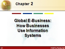 2 Chapter   Global E-Business: How Businesses Use Information Systems