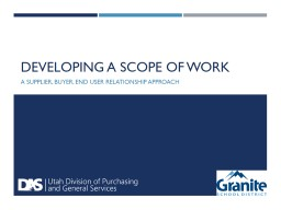 Developing a Scope of Work