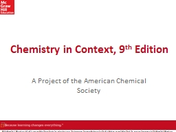 Chemistry in Context, 9 th