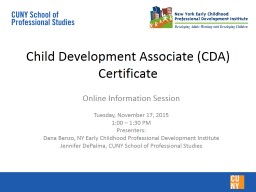 Child Development Associate (CDA) Certificate