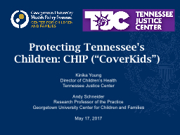 Protecting Tennessee's Children: CHIP (""