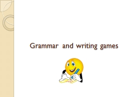 Grammar and writing games